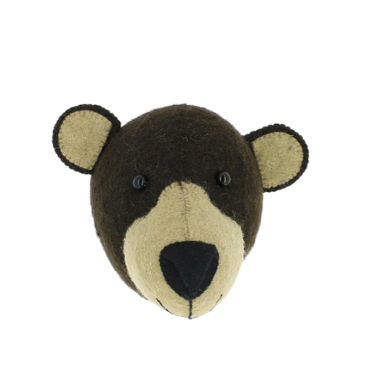 Fiona Walker Mini Felt Bear Head