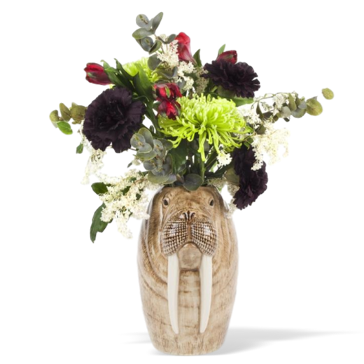 Quail Designs Walrus Tall Flower Vase