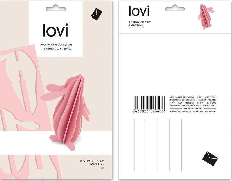 Lovi Rabbit 9cm Light Pink