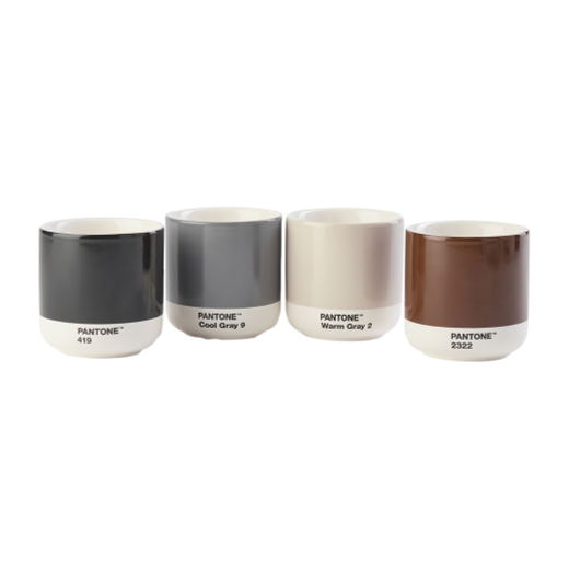 Copenhagen Design Pantone  Living Thermo Cup Set of 4 Dark