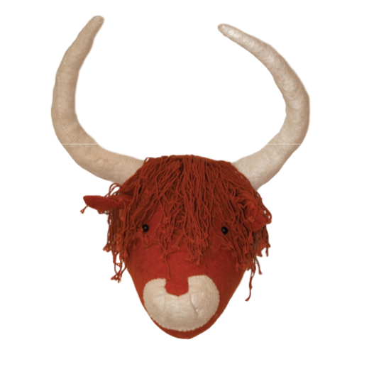 Fiona Walker Felt Highland Cattle Head