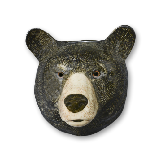 Quail Designs Black Bear Wall Vase