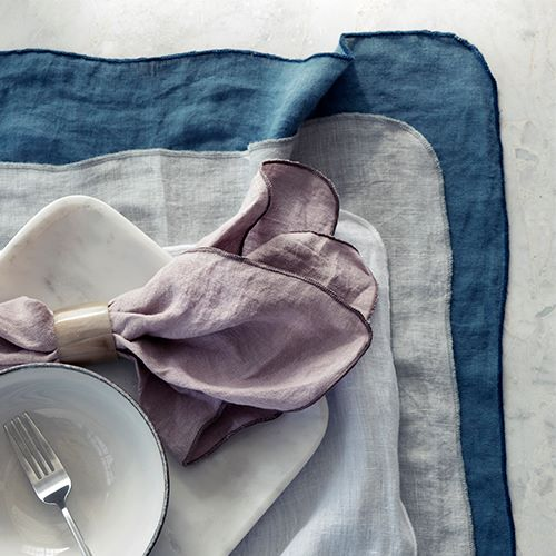 Broste Table Cloth Gracie Eco Friendly Linen - Blue