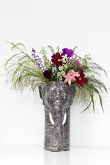 Quail Designs Elephant Tall Flower Vase