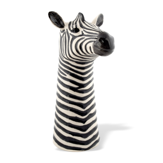 Quail Designs Zebra Tall Flower Vase