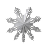Broste Paper Snowflake Decoration Silver Extra Large
