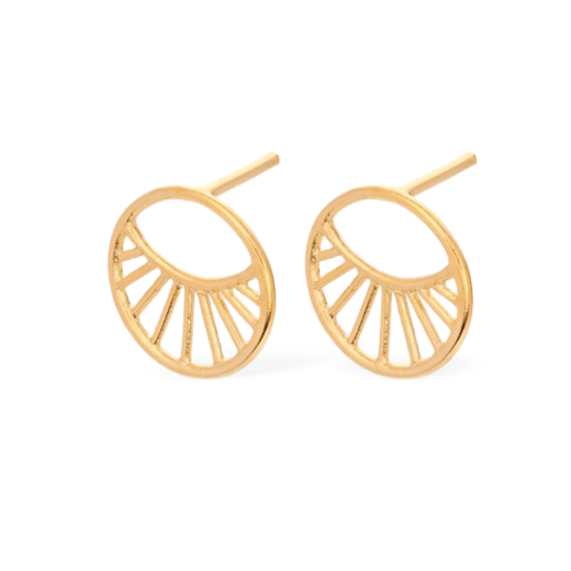 Pernille Corydon Daylight Earrings Small Gold