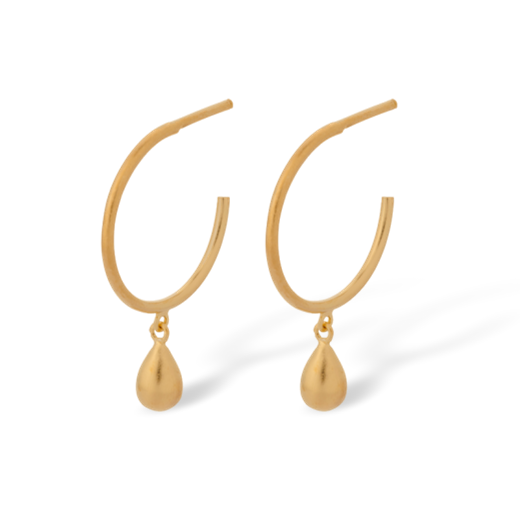 Pernille Corydon Gold Waterdrop Hoop Earrings