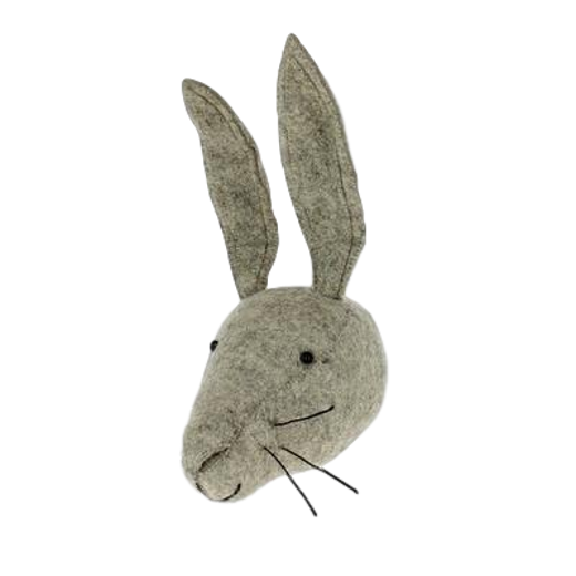Fiona Walker Mini Felt Hare Head