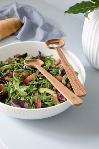 Kähler Hammershøi Oak Salad Serving Set