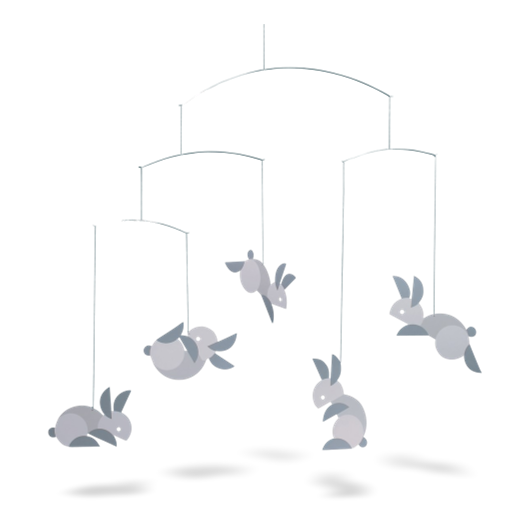 Flensted Mobile Circular Bunnies