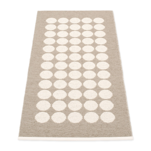 Pappelina Fia Rug Mud and Vanilla: 70 x 150cm