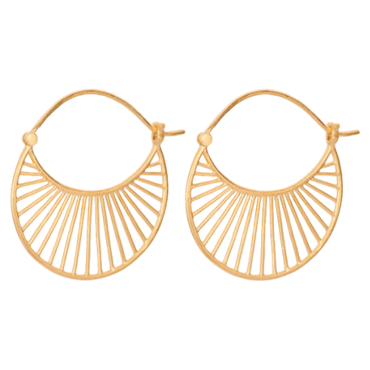 Pernille Corydon Daylight Earrings Medium Gold