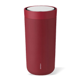 Stelton To Go Click Steel Cup Warm Maroon
