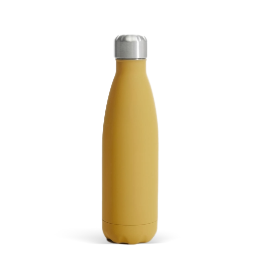 Sagaform Steel Rubber-Finish Drink Bottle Yellow