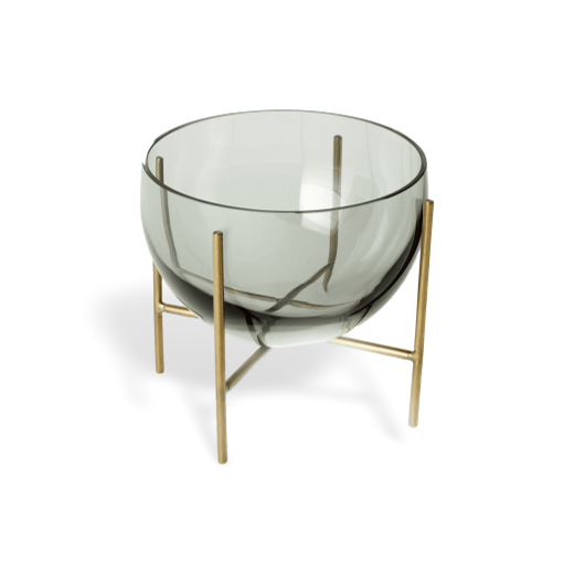 Menu Echasse Bowl Smoke and Brushed Brass Small