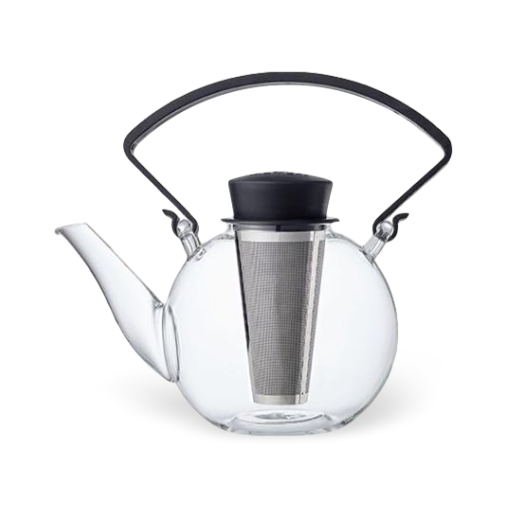 QDO Glass Teapot Black Handle