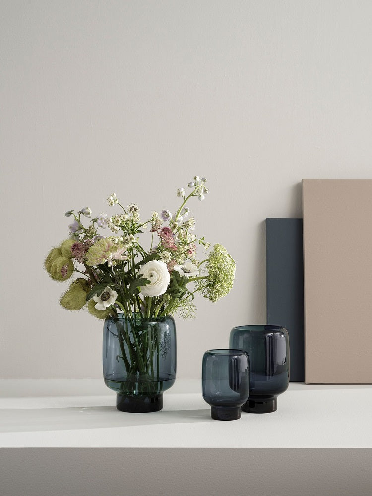 Stelton Hoop Vase Midnight Blue Small