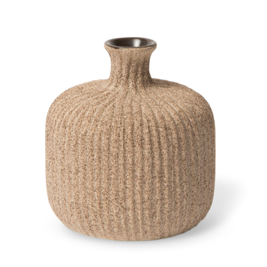 Lindform Bottle Vase Medium Sand Stripe Small