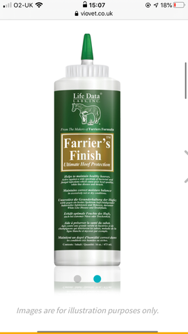 Life Data Farrier's Finish Topical Hoof Dressing 473ml