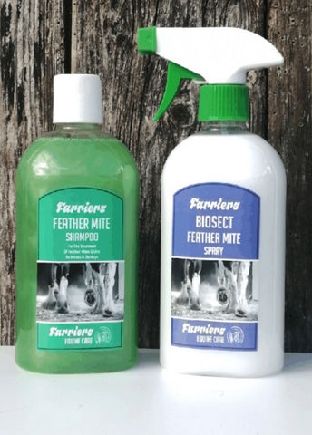 FEATHER MITE TREATMENT SPRAY & SHAMPOO