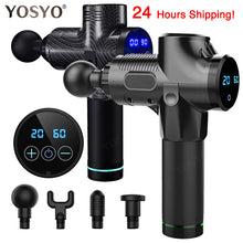 Load image into Gallery viewer, LCD Display Massage Gun Deep Muscle Massager Muscle Pain Body Massage Exercising  Relaxation Slimming Shaping Pain Relief