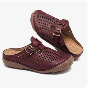 🔥50% OFF TODAY🔥Women Hollow Out Breathable Slip On Daily Sandals