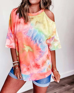 Tie Dye One Shoulder T-shirt