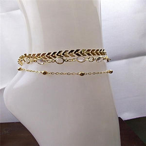 Women Elegant Multi-layer Anklets