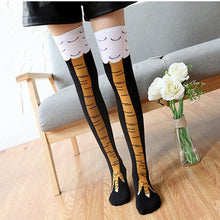 Load image into Gallery viewer, Creative Chicken Claw Funny Print Knee High Socks