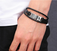Load image into Gallery viewer, From Mom to Son - Steel & Leather Style Bracelet