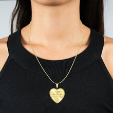 Load image into Gallery viewer, To My Daughter (Love Dad/Mom) Heart Necklace