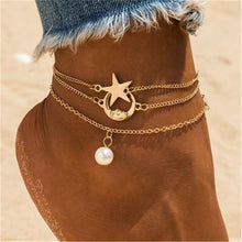 Load image into Gallery viewer, Women Fashion Star&Moon Anklets