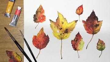 Painting Autumn Leaves In Watercolor