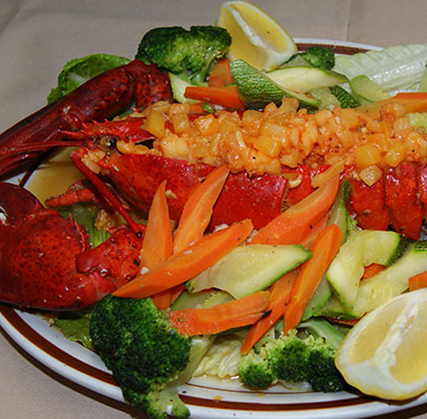 Lobster Stuffed with Shrimp and Scallop