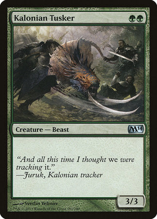 Kalonian Tusker [Magic 2014] | The Dork Den