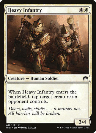 Heavy Infantry [Magic Origins] | The Dork Den