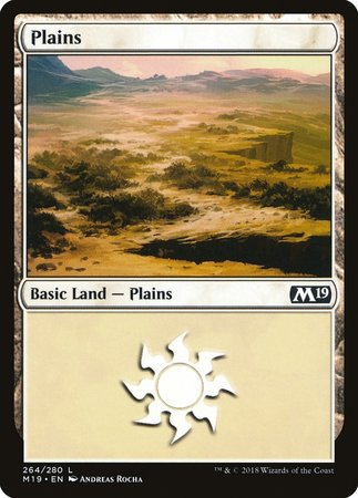 Plains (264) [Core Set 2019] | The Dork Den