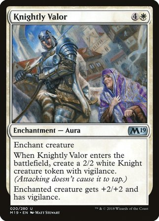 Knightly Valor [Core Set 2019] | The Dork Den
