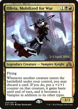 Olivia, Mobilized for War [Shadows over Innistrad Promos] | The Dork Den