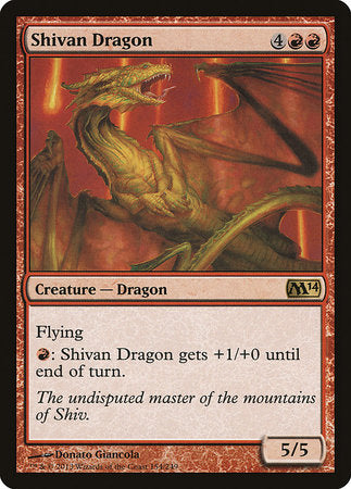 Shivan Dragon [Magic 2014] | The Dork Den