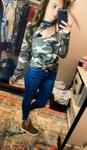 Sweeter In Camo Thermal Top