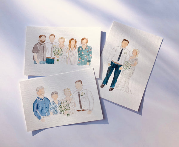 custom watercolor portraits