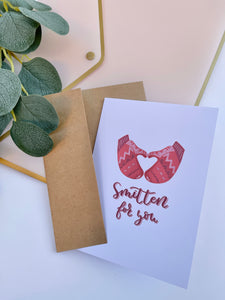 Smitten for You Greeting Card