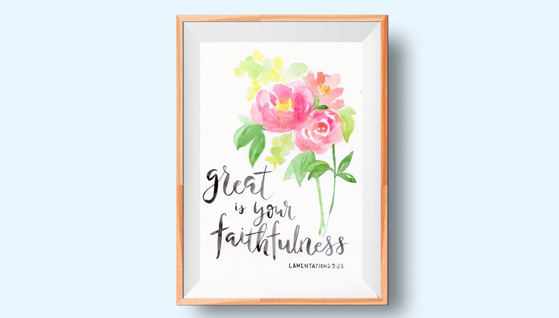 Faithfulness, Lamentations 3:23