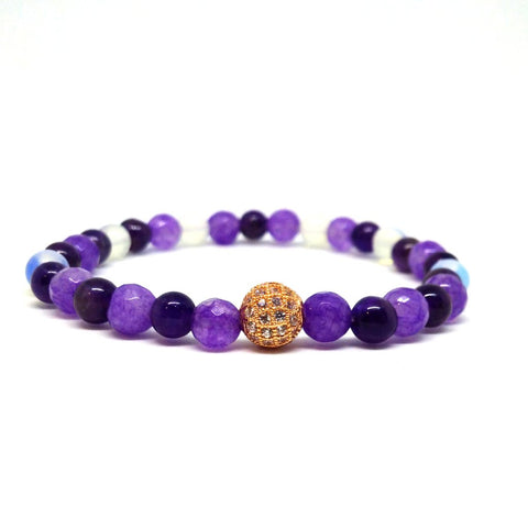 Amethyst Bracelets, Unique Gemstone Bracelets, Silver or Gold