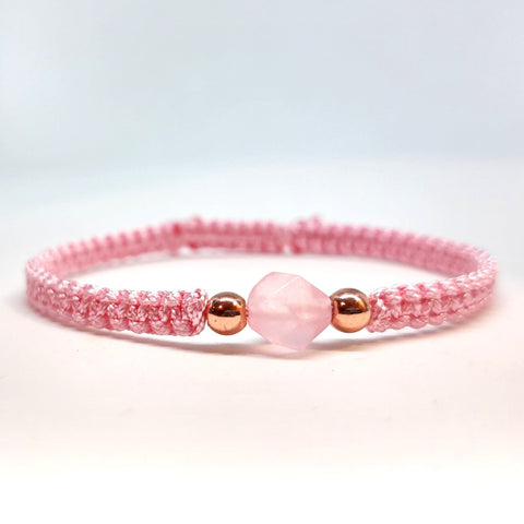 Genuine Rose Quartz Bracelets, Rose Quartz Healing Crystal Bracelets And Rose Quartz Necklaces