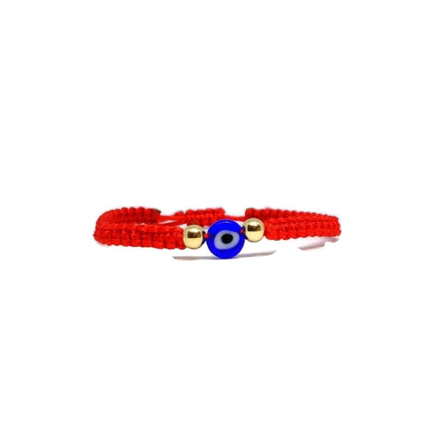 Blue nazar eye baby bracelet 14ct gold. Protection evil eye amulet for child. Baby gold jewelry. Baby shower gift. Red string for baby
