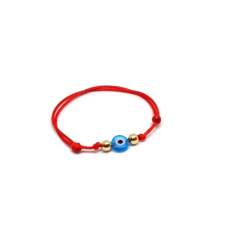 Baby bracelet gold, baby gift, protection bracelet red string gold bracelet, evil eye bracelet, nazar baby bracelet, newborn gift, solid gold baby bracelet