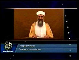 IntelCenter al-Qaeda Videos DVD V069: Osama bin Laden 29 Oct. 2004 Address to Americans 